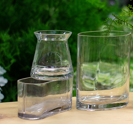 Jacobson Floral Jacobson Inspirations Featured Line Unique Clear Glass Vases